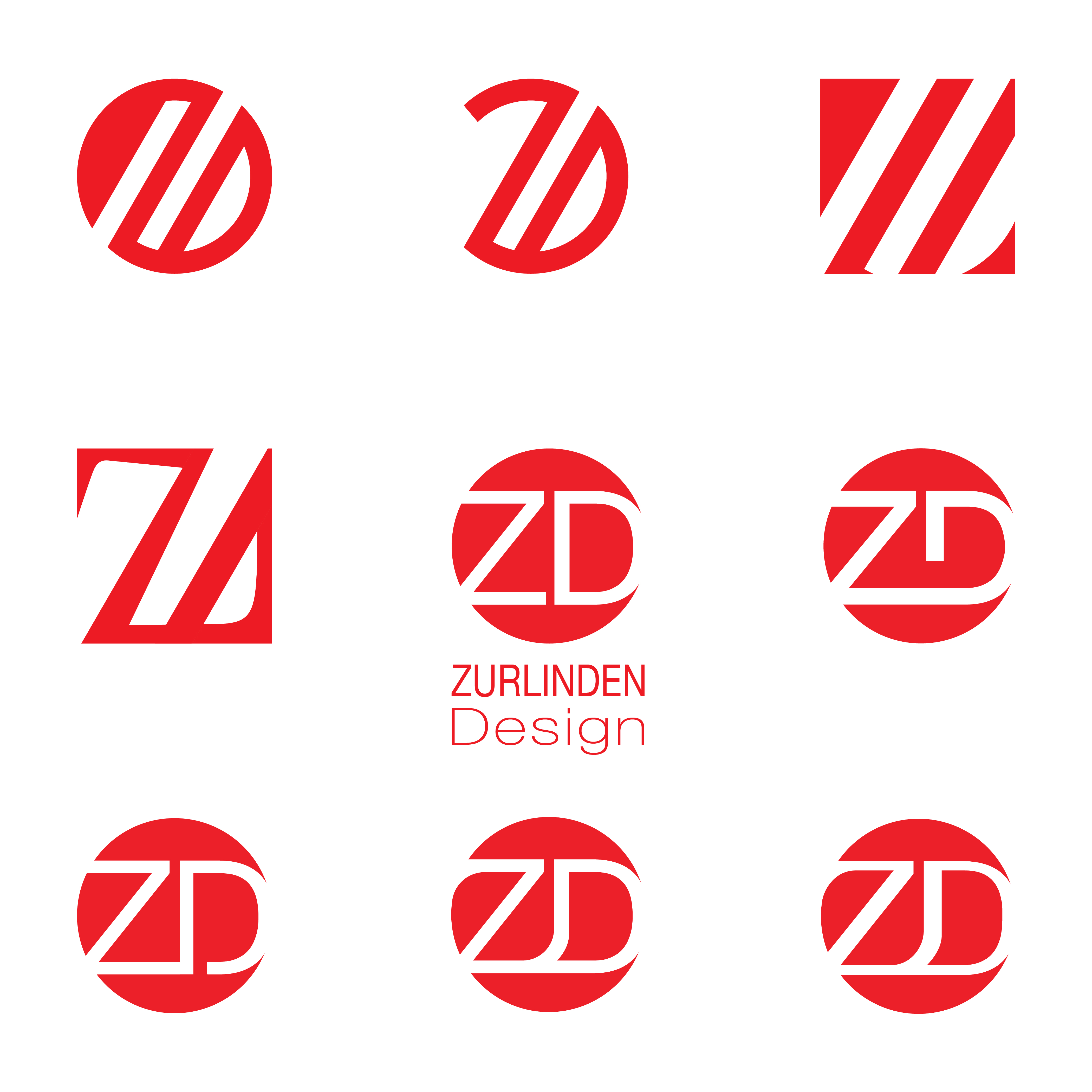 Zurlinden Design Logo Concepts